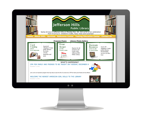 Jefferson Hills Library Website Design Information Picture