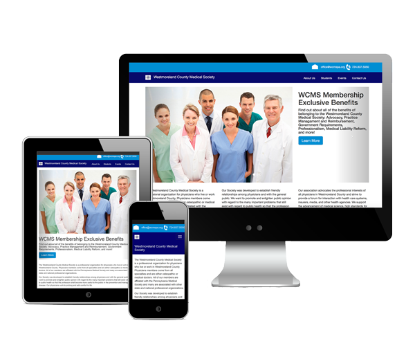 Westmoreland County Medical Society Website Design Information Picture